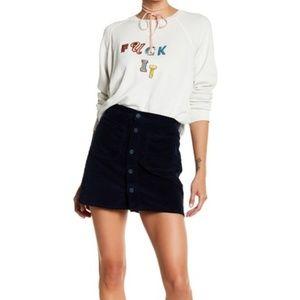 MOTHER Deep Blue Patch Pocket Miniskirt